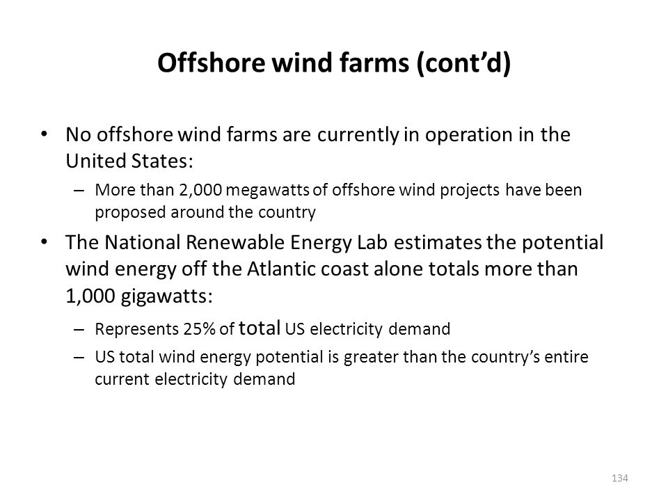Proposed offshore wind farms and those under study are concentrated on the North Atlantic – Several Great Lakes ports are also focusing on demonstration programs for offshore wind farms