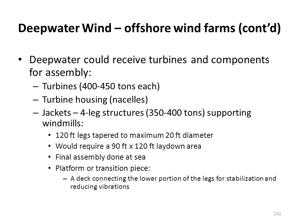Type of wind Turbine that may be used by Deepwater Wind