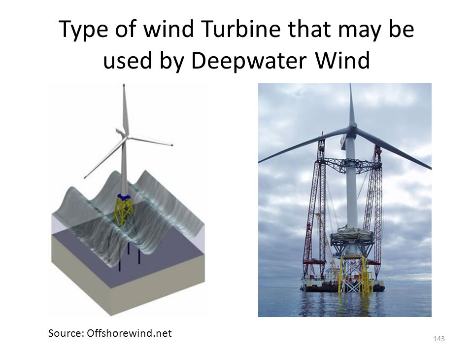 Deepwater Wind – offshore wind farms (cont'd)