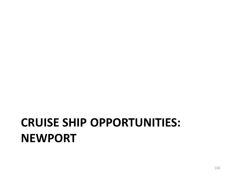 The Newport cruise market is served by international and domestic Lines