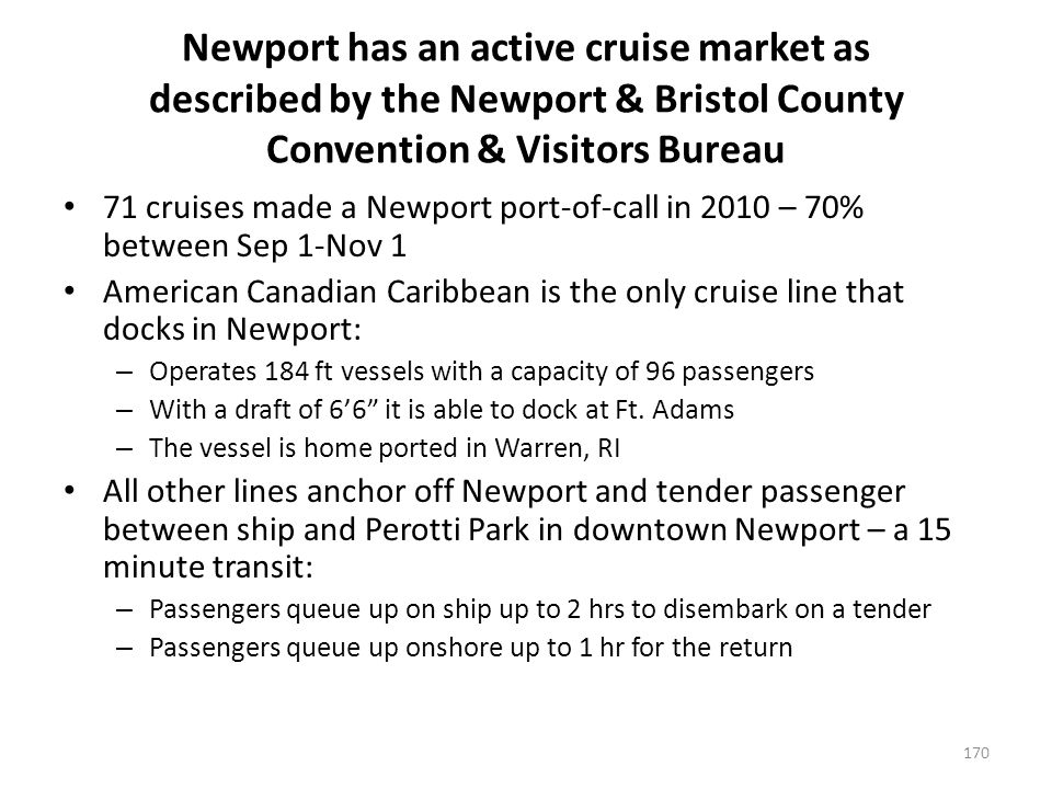 Newport has an active cruise market