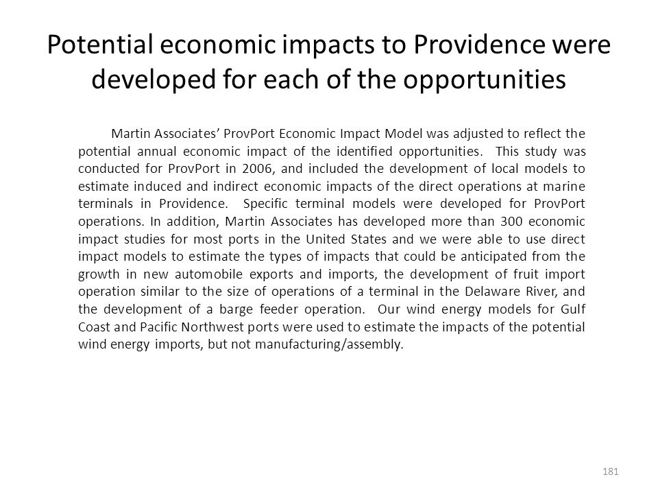 Potential Impacts of Opportunities - Annual