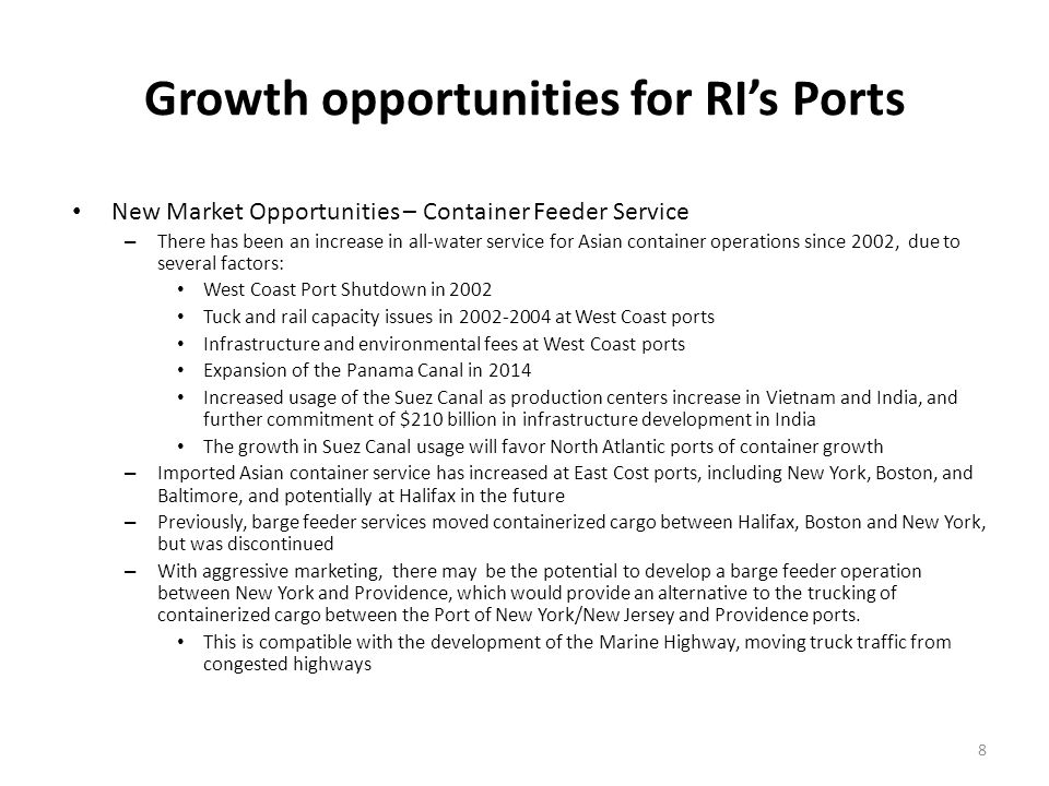 Growth opportunities for RI's Ports