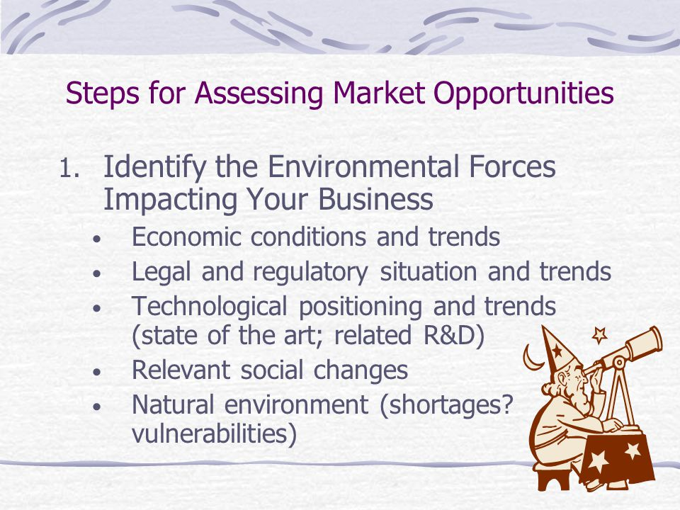 Steps for Assessing Market Opportunities