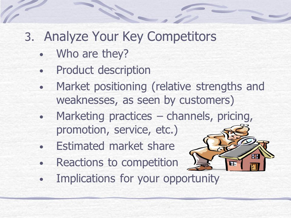 Analyze Your Key Competitors