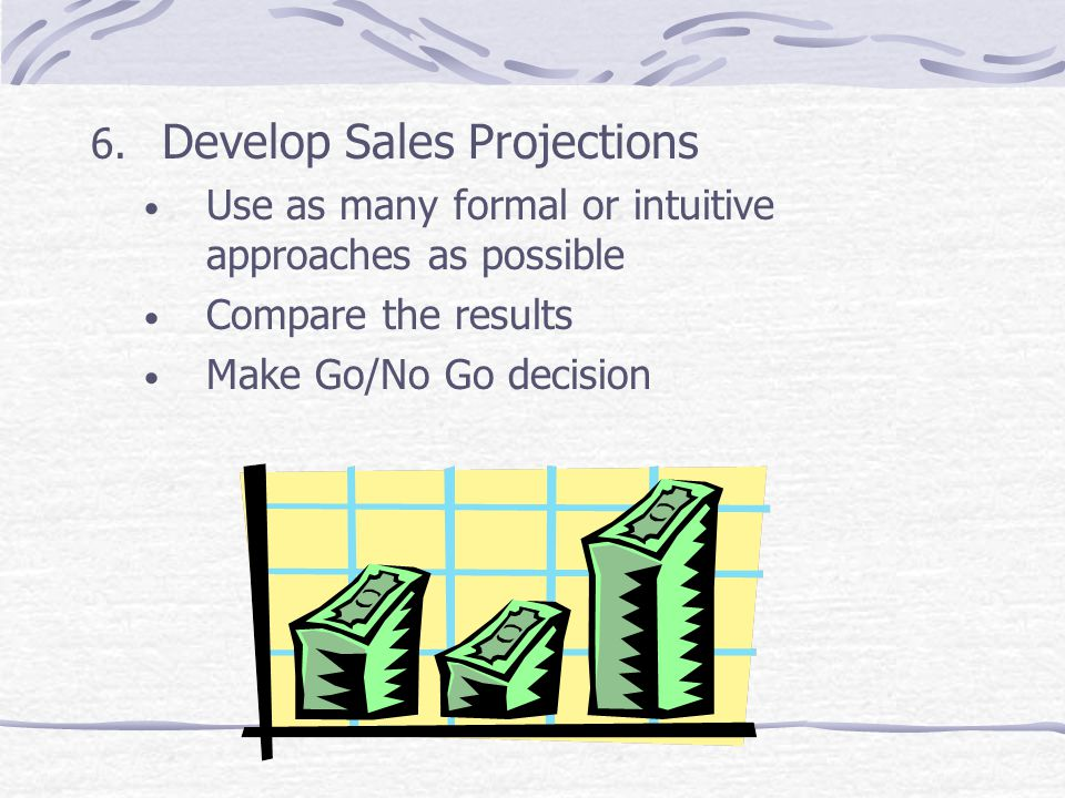 Develop Sales Projections