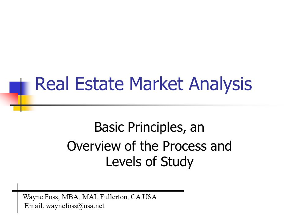 Real Estate Market Analysis  Ppt Video Online Download