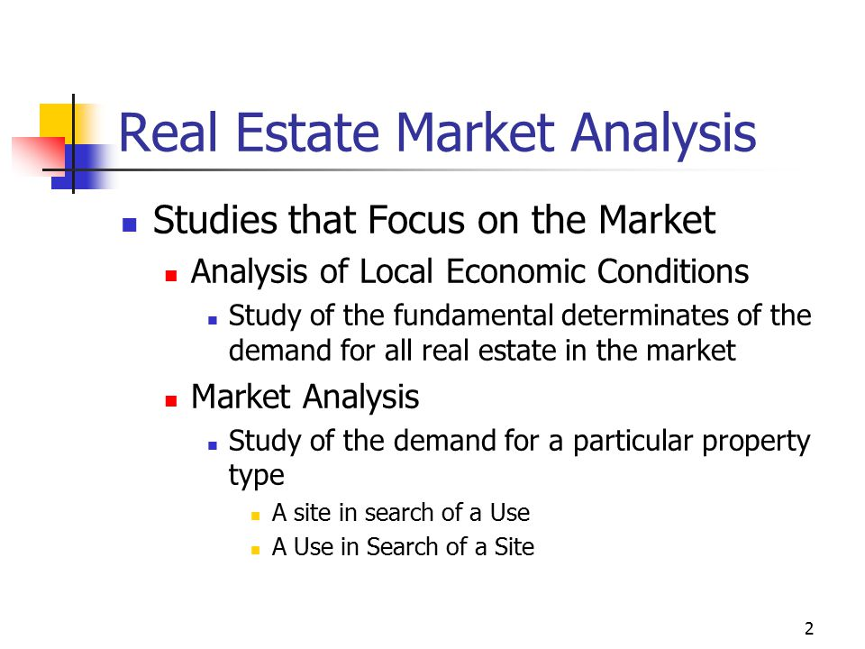 Real Estate Market Analysis  Ppt Download