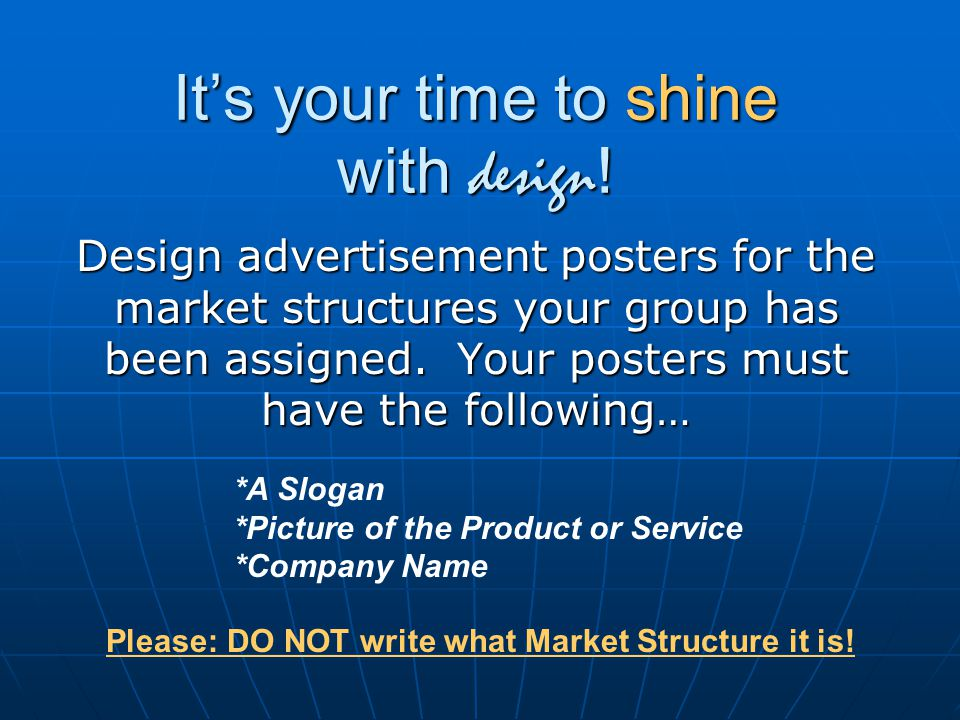 It's your time to shine with design!