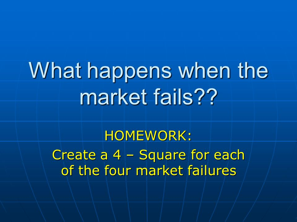 What happens when the market fails