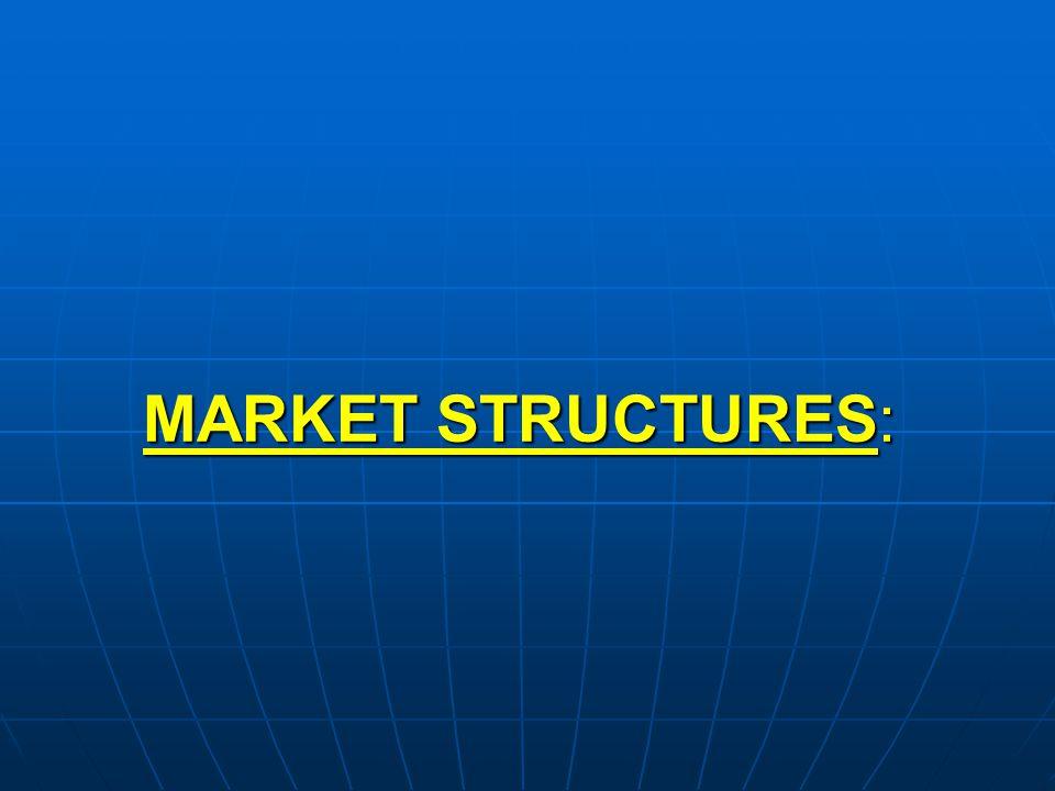 MARKET STRUCTURES: