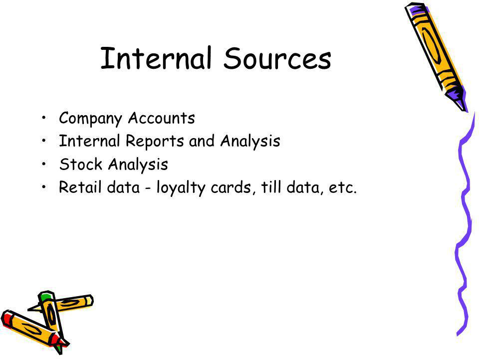 Internal Sources Company Accounts Internal Reports and Analysis