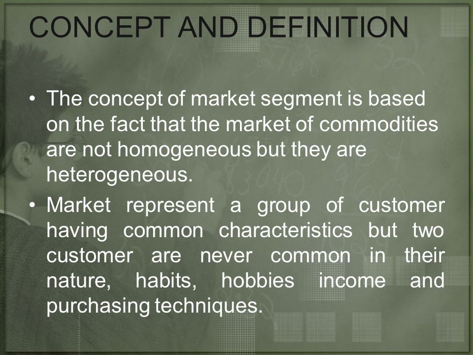 CONCEPT AND DEFINITION