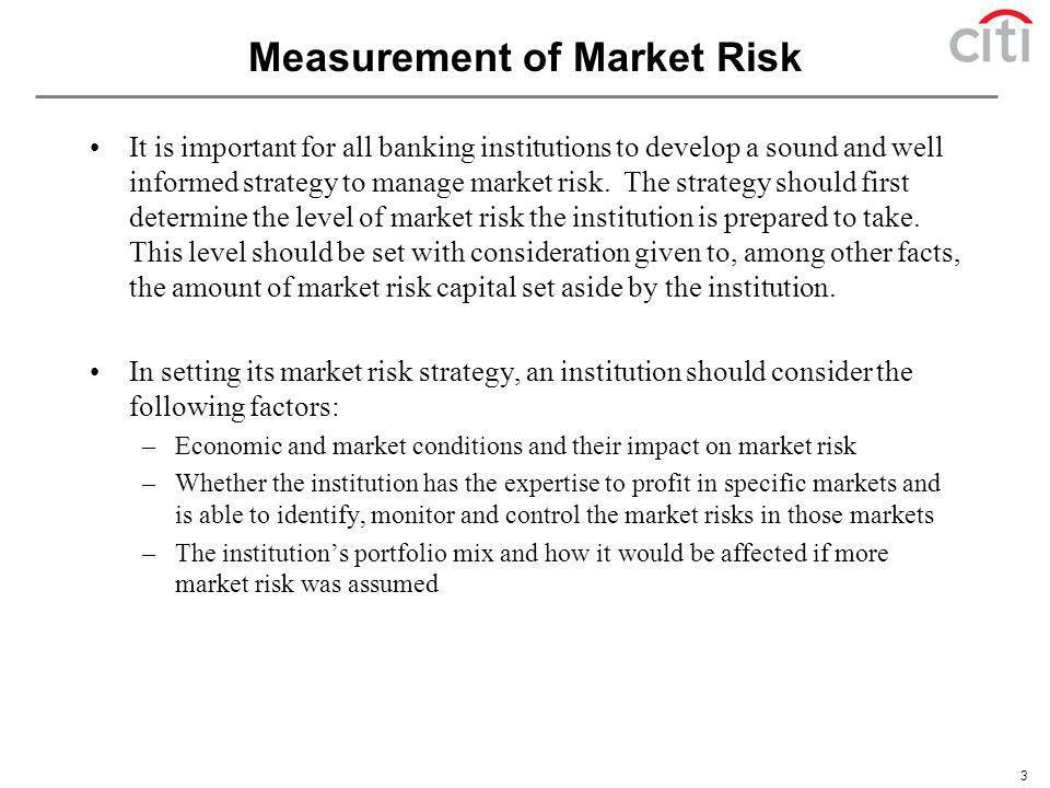 Measurement of Market Risk