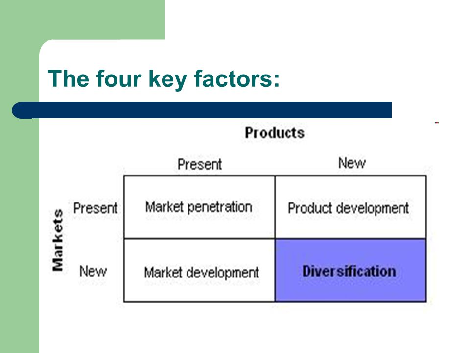 The four key factors: