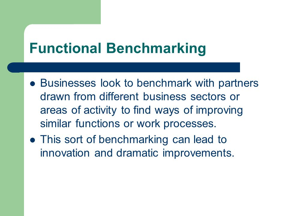 Functional Benchmarking