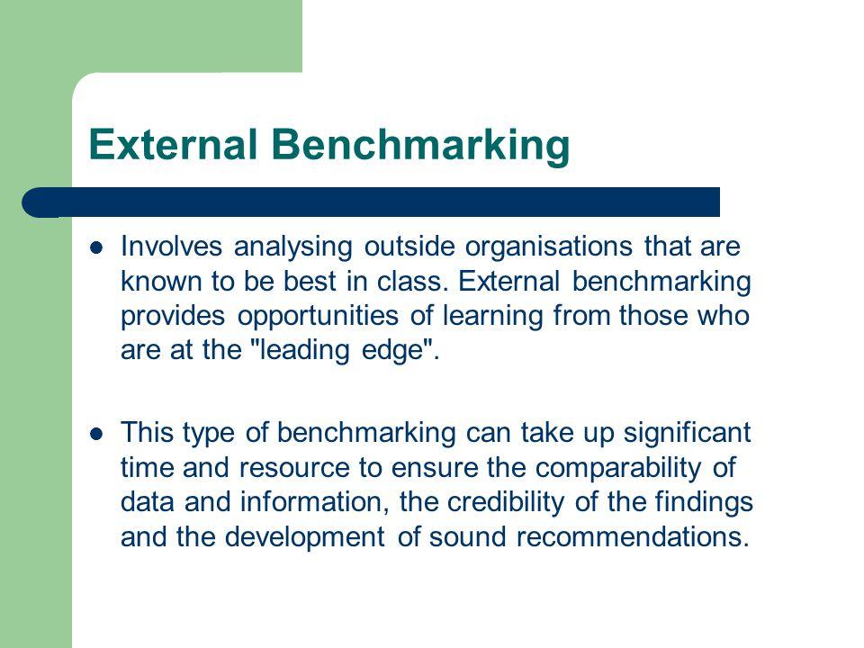 External Benchmarking