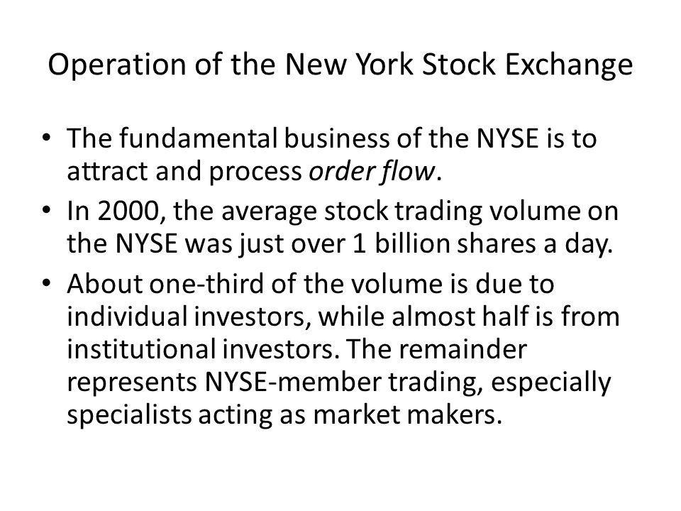 Operation of the New York Stock Exchange