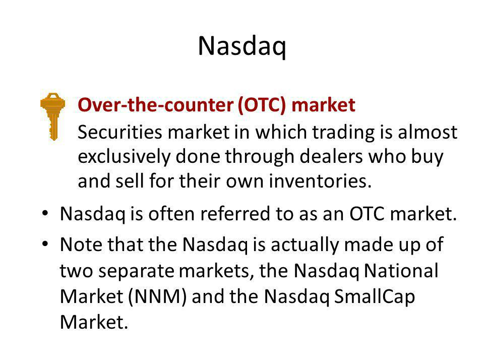 Nasdaq Over-the-counter (OTC) market