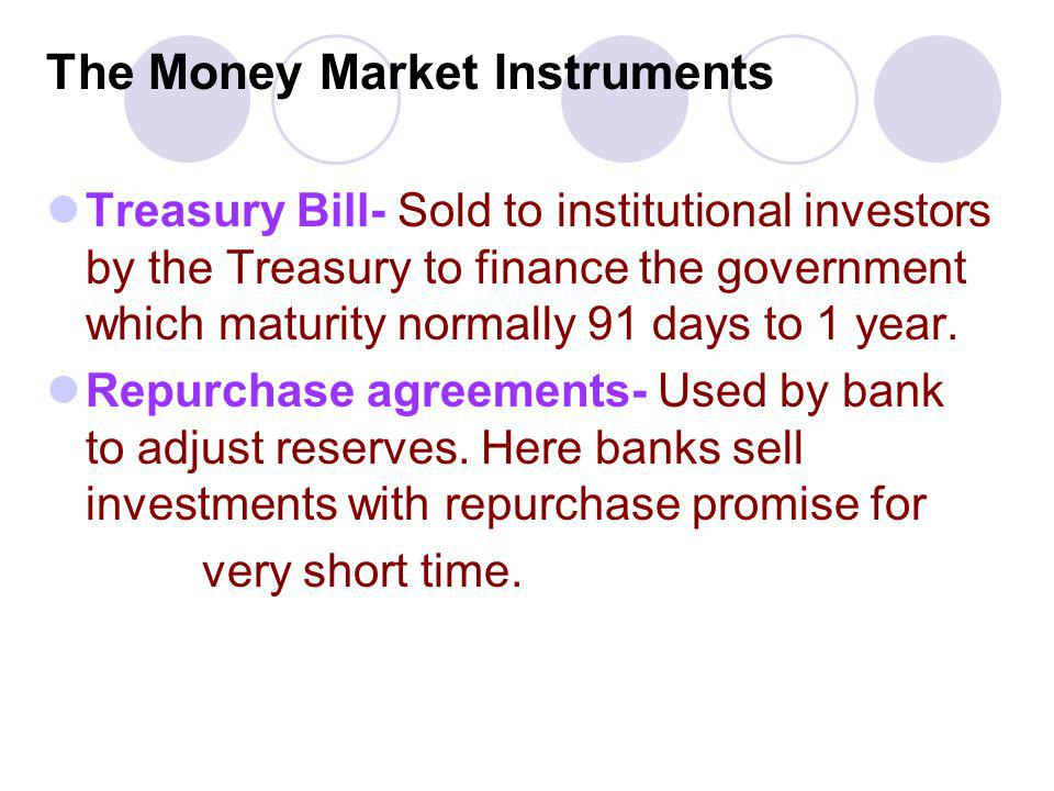 The Money Market Instruments