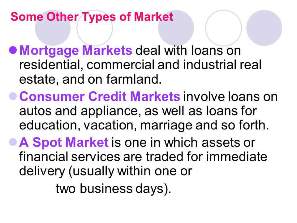 Some Other Types of Market
