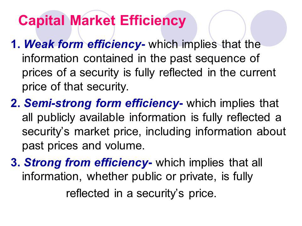 Capital Market Efficiency