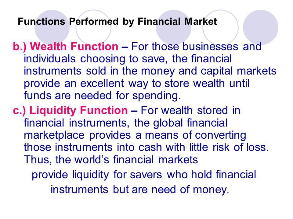 Functions Performed by Financial Market