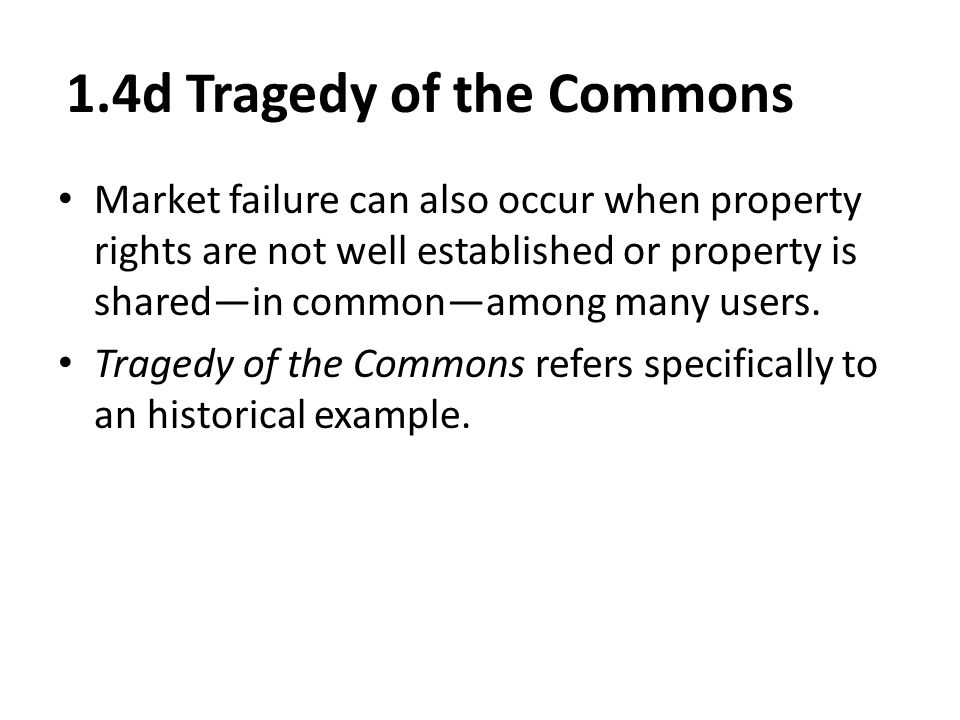 1.4d Tragedy of the Commons