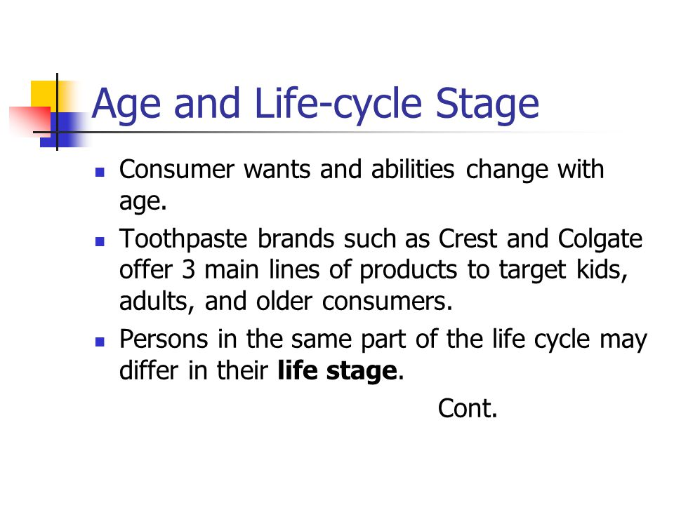 Age and Life-cycle Stage