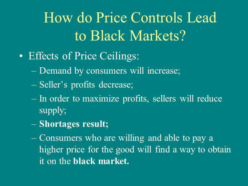 How do Price Controls Lead to Black Markets