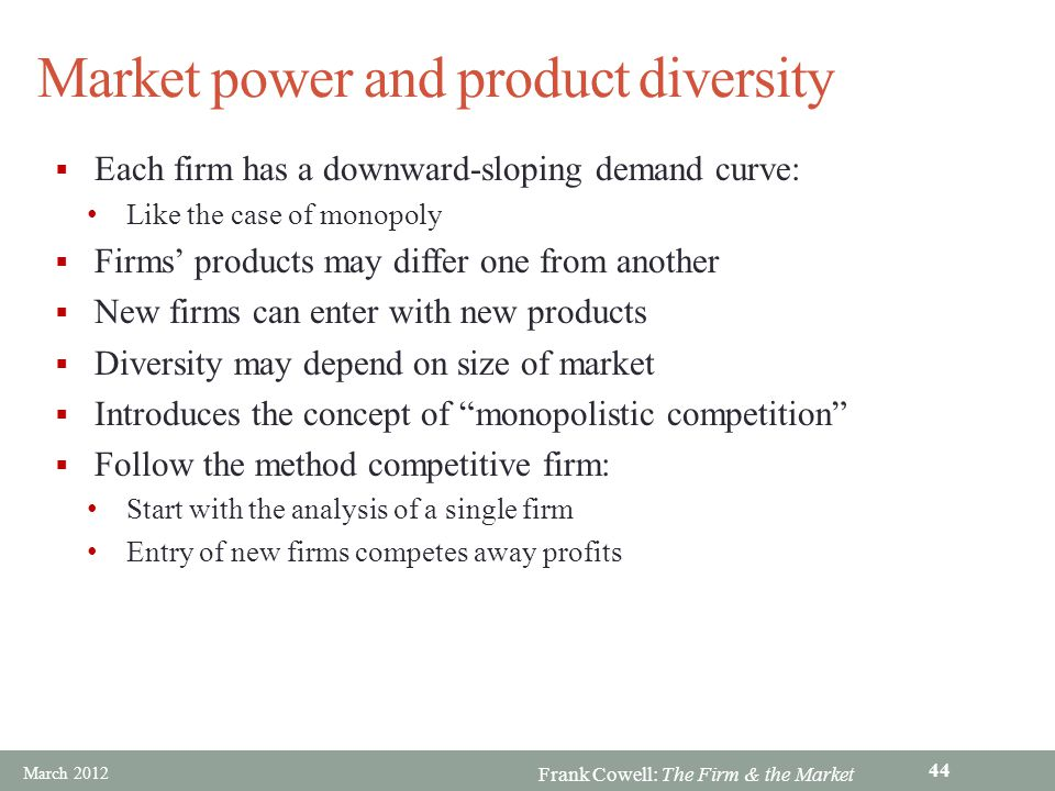Market power and product diversity