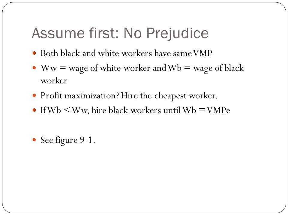 Assume first: No Prejudice