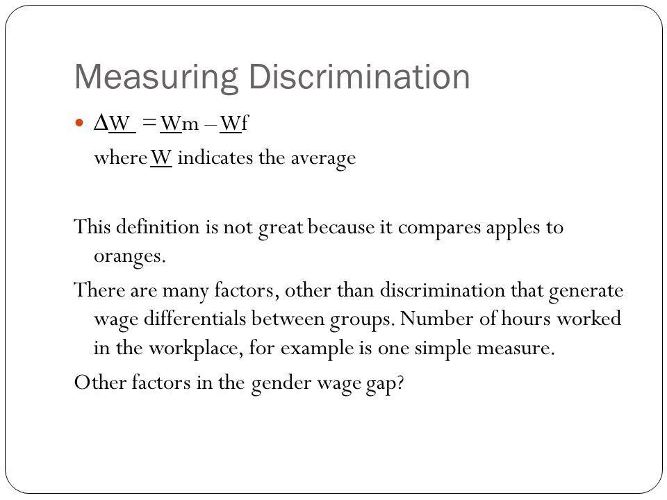Measuring Discrimination
