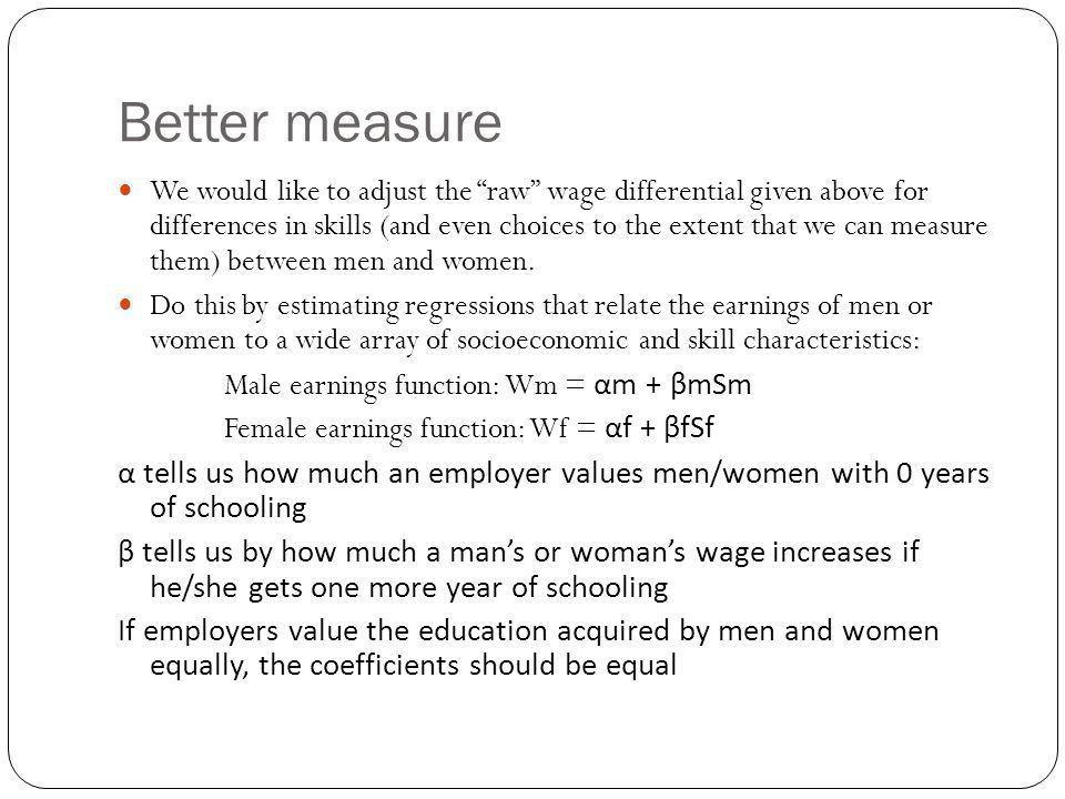 Better measure
