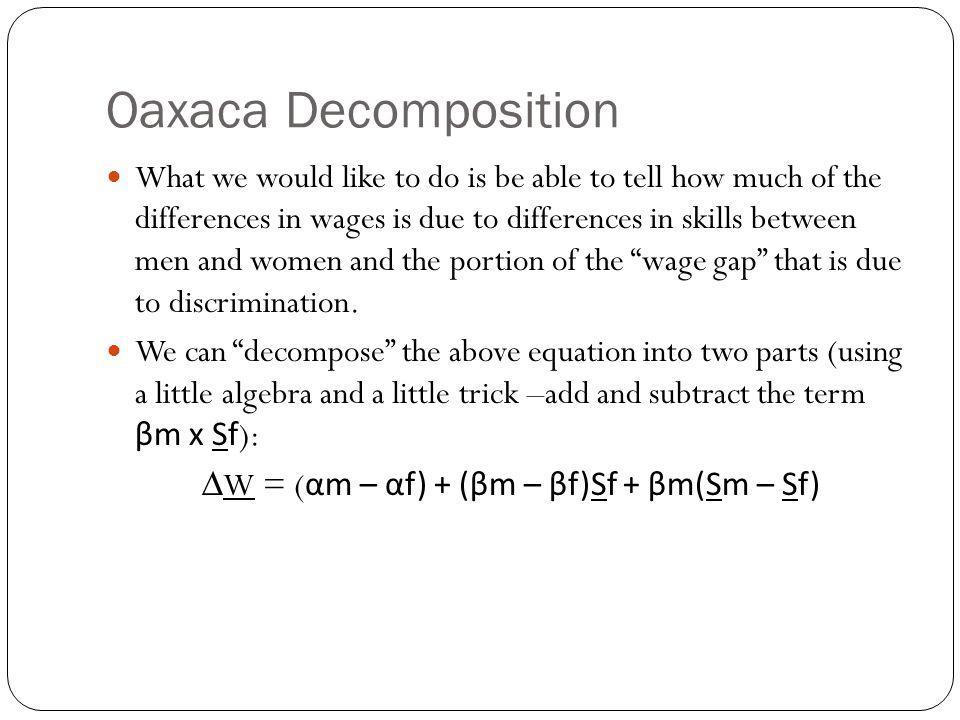 Oaxaca Decomposition