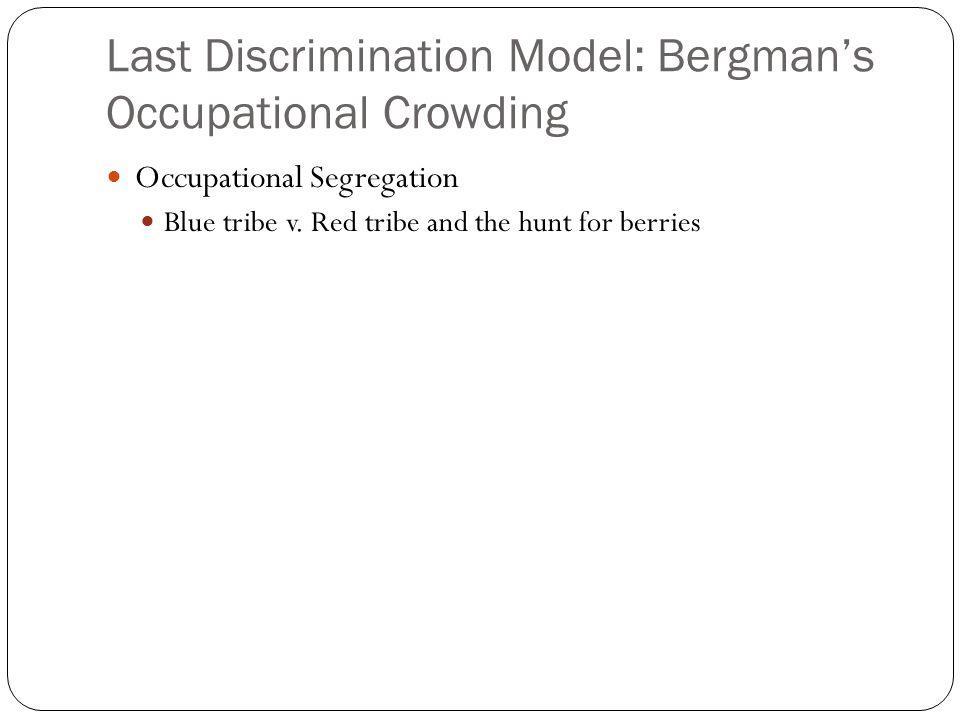 Last Discrimination Model: Bergman's Occupational Crowding