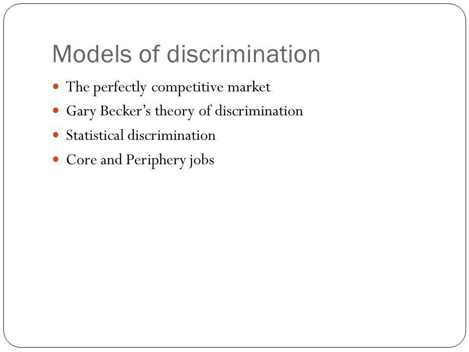 Models of discrimination