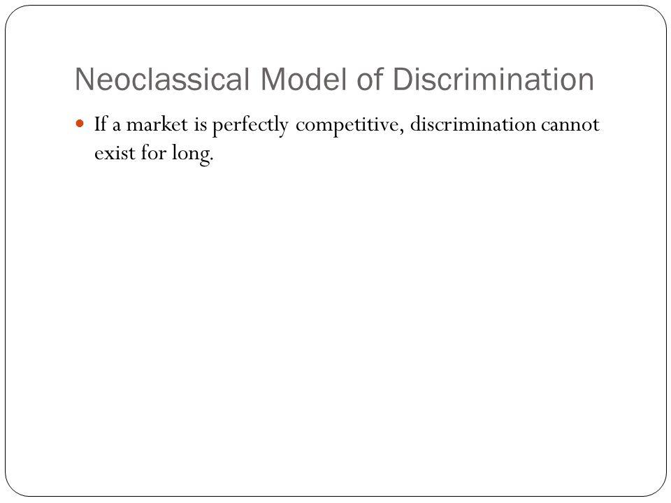 Neoclassical Model of Discrimination