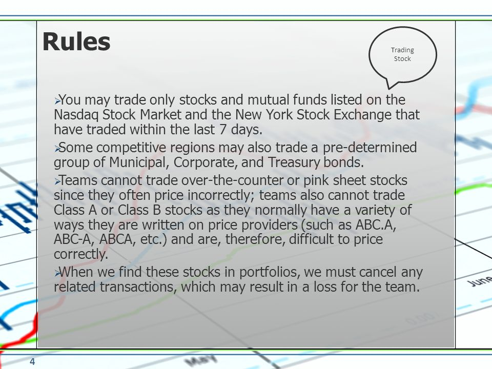 Rules Trading Stock.