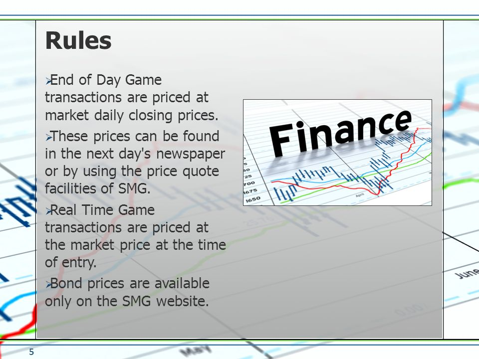 Rules End of Day Game transactions are priced at market daily closing prices.