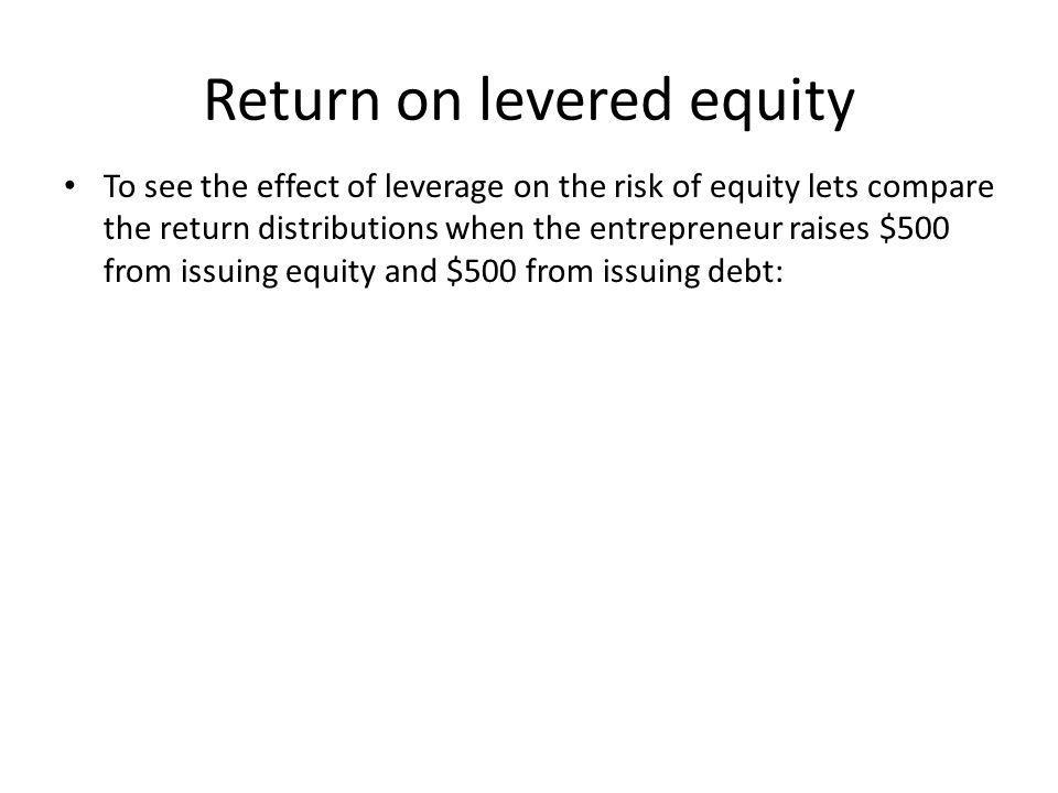 Return on levered equity