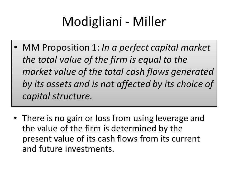 Modigliani - Miller