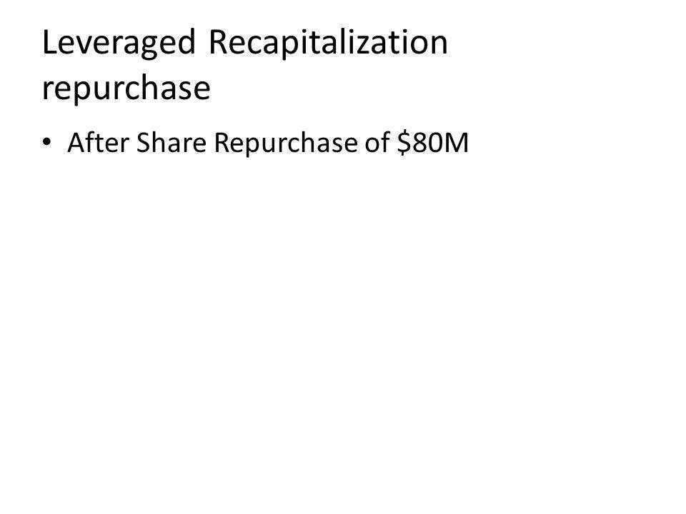Leveraged Recapitalization repurchase