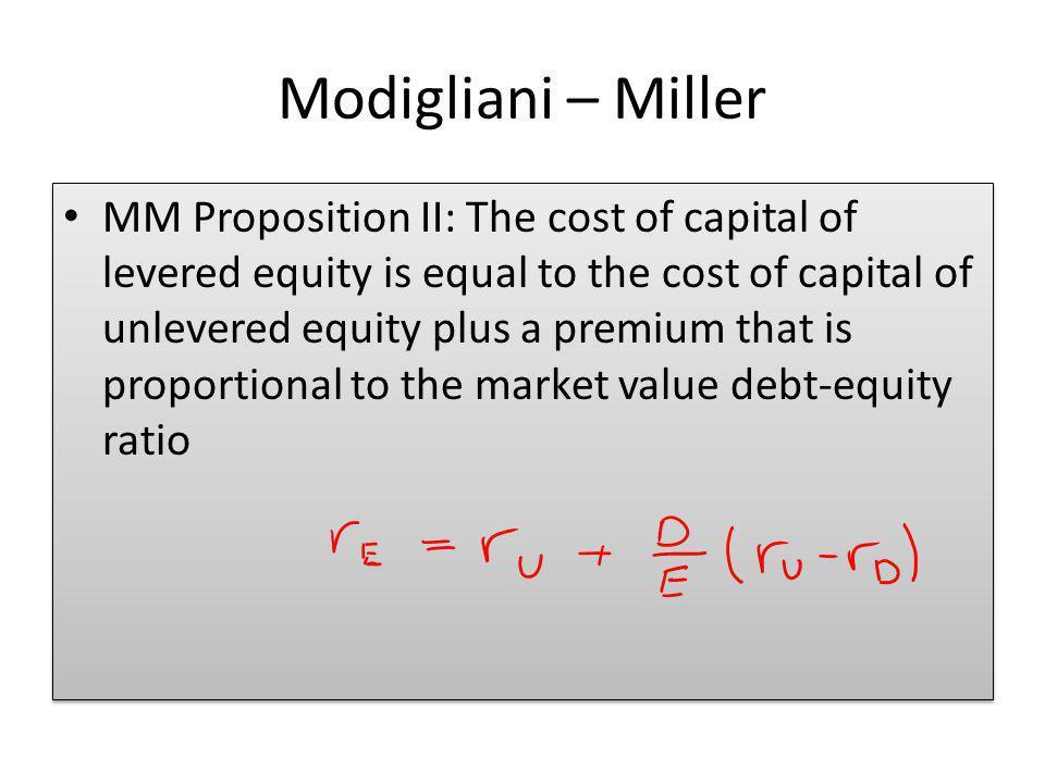 Modigliani – Miller