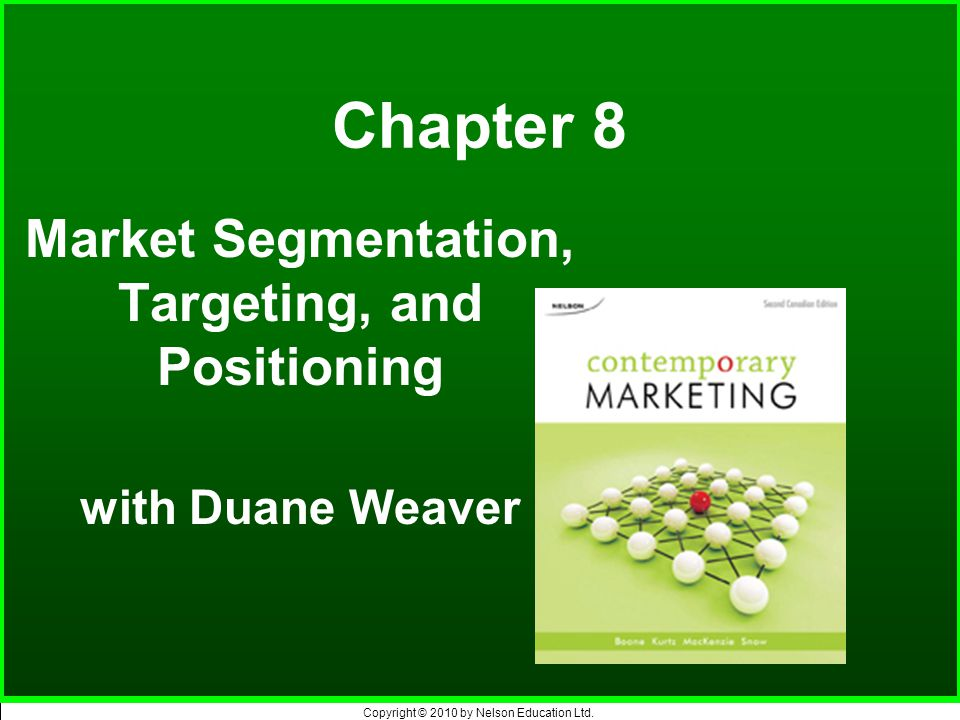 Market Segmentation, Targeting, and Positioning with Duane Weaver