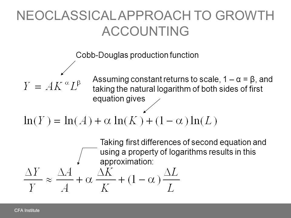 Neoclassical Approach to Growth Accounting