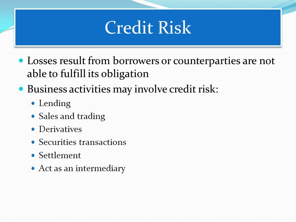 Credit Risk Credit Risk