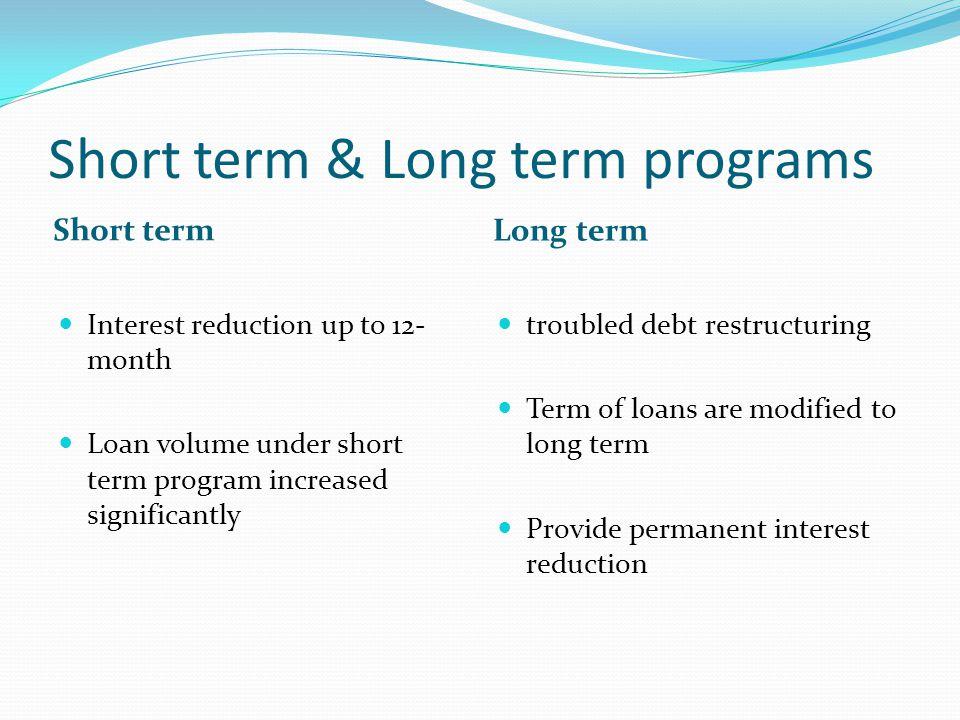 Short term & Long term programs