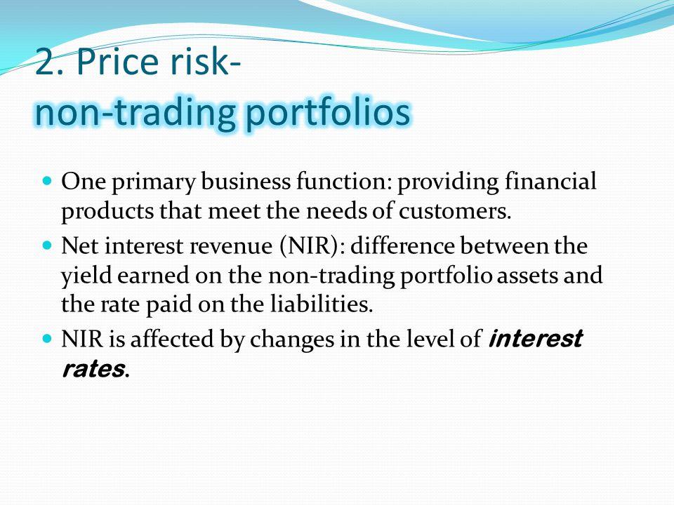 2. Price risk- non-trading portfolios