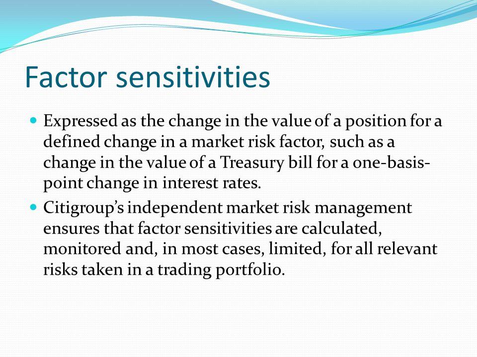 Factor sensitivities